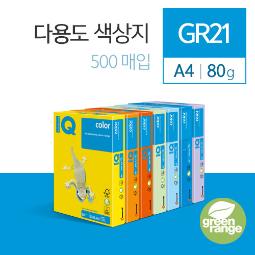 IQ Color A4 색상지 500매 그레이 GR21