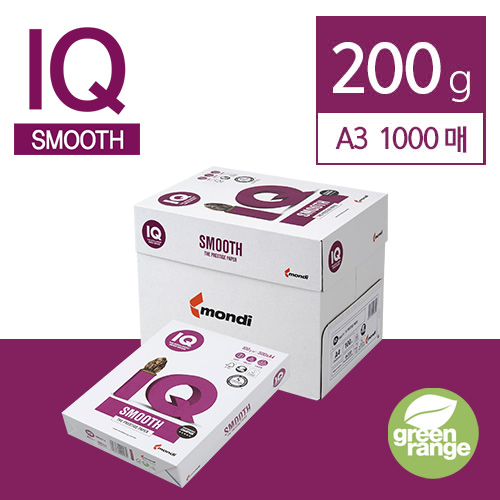 IQ Smooth 200g A3 1000매